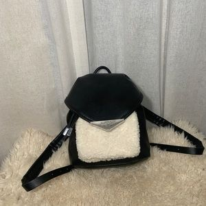 KENDALL&KYLIE SHEARLING DETAIL MINI BACKPACK